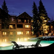 Mountain Thunder Lodge Outside Pool and Hot Tub Area - Breckenridge