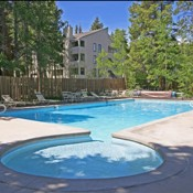 Mountainwood Condos Pool and Hot Tub Area- Breckenridge